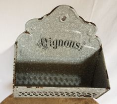 Lovely and very SHABBY CHIC grey  french enameled by RueDesLouves, $55.00
