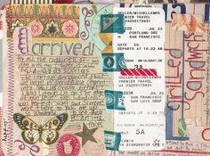 """""""Page from my California Vacation Souvenir Journal"""" by Hold Dear, via Flickr"""