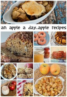 An apple a day - a delicious collection of unique apple recipes from multiple blogs! ad