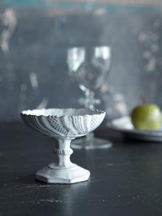 Astier de Villatte ceramics 脚付きクープ・オクトゴナル 直径10.5cm