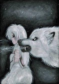 Lunar Cycle's Peak by Saoirsa on DeviantArt She Wolf, Wolf Girl, Dark Fantasy, Fantasy Art, Anime Wolf Drawing, Werewolf Art, Wolf Wallpaper, Vampires And Werewolves, Furry Art