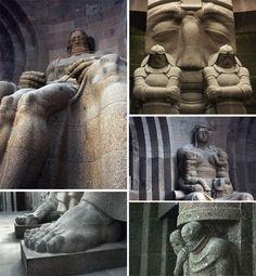 Völkerschlachtdenkmal #Leipzig | Figuren innen