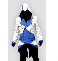 Hot Sale Conner Kenway Hoodie Coat Jacket Anime Costume Cosplay Overcoat Plush doll