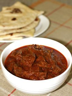 Vindaloo is a spicy curry popular in Goa. It can be prepared with any meat such as beef, pork or mutton.