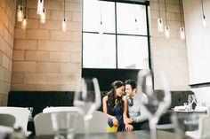 Restaurant engagement photos