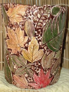 Yessy > One of a Kind Pottery > Leaf Wine Chiller