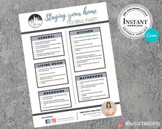 Staging Your Home, Real Estate Flyer, Real Estate Marketing Template , Editable in Canva #EditableInCanva #RealEstateTemplate #RealEstateFlyer #Marketing #Made4You #RealEstate #ReadyToPrint #Realtor #PrintableTemplate Real Estate Flyers, Real Estate Marketing, Real Estate Templates, Editable, Real Estate Houses, Marketing Materials, Printing Services, Staging, Design Elements