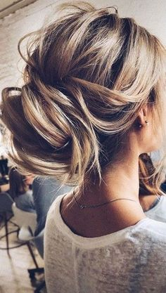 Chic loose updo..
