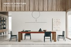 Table Parallel Structure - Design by Michael Anastassiades . Discover more about technical details, covers&finishes, where to buy. Italia Design, Architrave, Luxury Furniture Brands, Light Oak, B & B, Office Interiors, A Table, Furniture Design, Interior Design