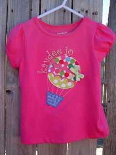 Hot Air Balloon Applique' Shirt Personalized by sugarysnailsshoppe, $28.00
