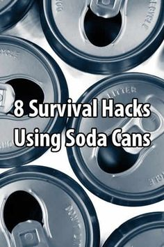 8 Survival Hacks Using Soda Cans. Recently I shareda videoabout how to make a penny can stove. But that's just the beginning. #Survivalhacks #Urbansurvivalsite #Usesforsodacans