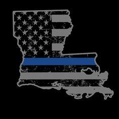 Louisiana Police & Law Enforcement Thin Blue Line