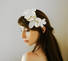 Bridal Flower Crown, Romantic Flower Headband, wedding  flowers hair accessory, Vintage inspired bride, wedding hair accessories