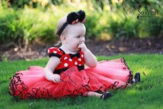 MINNIE MOUSE dress TUTU  Party Dress  in Red Polka Dots super twirly  dress 1st Birthday party. $62.00, via Etsy.