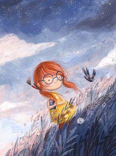 Breathe the day fresh air Pretty Art, Cute Art, Guache, Children's Book Illustration, Whimsical Art, Belle Photo, Cartoon Art, Cute Drawings, Illustrations Posters