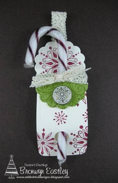 Two Tags Candy Cane Holder by BronJ - Cards and Paper Crafts at Splitcoaststampers