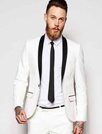 822811ed03517  Robert s  Style  White  Wedding  Suit  Fashion  Look  Men  Outfit   Inspiración  Ideas  Boda  Trajes  Novio  Tienda  Ropa