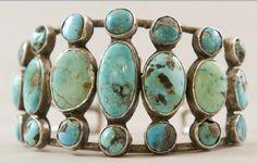 Old style turquoise bracelet circa 1940s