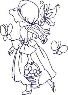 sunbonnet sue easter embroidery pattern