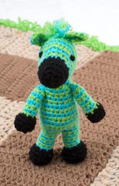 Free Zebra Crochet Pattern - Could be Horsie if you change the colors up!