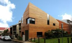 hard timber modern house geomtrically design architecture