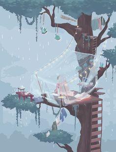 𝓛𝓲𝓷 - Anime Gifs Art by Aesthetic Anime, Aesthetic Art, Pretty Art, Cute Art, Art Mignon, Illustrations, Digital Illustration, Cool Drawings, Art Inspo
