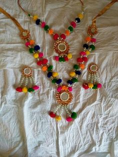 Traditional choli jewelry