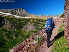 Triple Divide Pass Trail, Glacier National Park -- maybe start on this one and then veer left rather than right to go onto one of the other hikes partway through it.