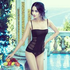 Black Lingerie. Sicily and Italian style.