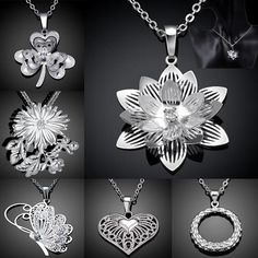 Perfect Christmas Gift New Arrivals 925 Sterling Silver Pendant Necklaces For Women 2015 New Design Wedding Fashion Jewelry Online with $2.42/Piece on Phish_zhu's Store | DHgate.com