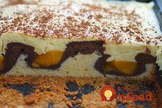 Tvarohová lahôdka s kakaom a broskyňami: Úžasný koláč z hrnčeka - dvojfarebná piškóta a fantastický krém! Tiramisu, Food And Drink, Ethnic Recipes, Basket, Tiramisu Cake