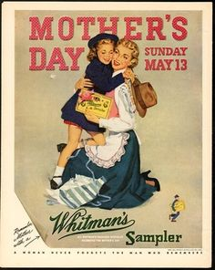 MOTHER'S DAY, Sunday, MAY 13 - Remember Mother with a Whitman's Sampler (1951)