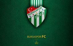 Download wallpapers Bursaspor FC, 4k, Turkish football club, leather texture, emblem, Bursaspor logo, Super Lig, Bursa, Turkey, football, Turkish Football Championship