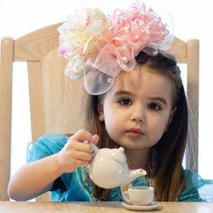 Baby Hat, Fascinator, Pink, Toddler Hat, Easter, Spring, Flower Girl, Wedding, headband - ready to ship