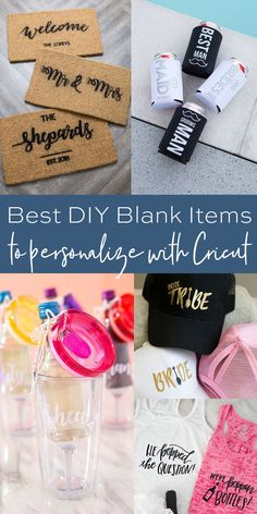Best DIY Blank Items to Personalize with Cricut - Something Turquoise Looking for the best blank items to personlized with your Cricut? Look no further! We've sharing the best DIY blank items to personlize for any occasion! Easy Diy Crafts, Diy Crafts To Sell, Diy Crafts For Kids, Kids Diy, Fun Diy, Cool Diy, Circuit Projects, Vinyl Projects, Craft Projects