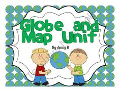 Globe and Map Unit from Miss B's Playground on TeachersNotebook.com -  (32 pages)  - This is a globe and map unit create to assist with a second grade map studies unit.  It can be adapted for grades 1-4 depending on needs.