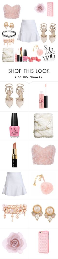 """""""Scream Queens Ariana inspired"""" by chanel-fashion ❤ liked on Polyvore featuring Valentino, MAC Cosmetics, OPI, H&M, Bobbi Brown Cosmetics, Juicy Couture, Henri Bendel, Carolee and Accessorize"""