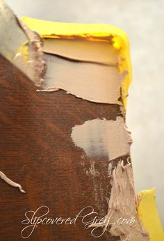 Fixing Chipped Veneer- with automotive body filler