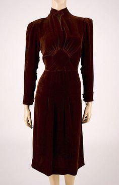 '30s velvet dress
