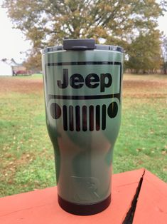 Jeep Discover NEW RTIC Powder Coated Tumbler with Spill Proof Lid- Olive Drab Green with Black Jeef decal or Pick Your Colors! Jeep Wrangler Accessories, Jeep Accessories, Diy Tumblers, Custom Tumblers, Green Jeep Wrangler, Rtic Cups, Blue Jeep, Jeep Decals, Diy Resin Crafts