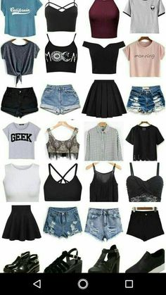 Trendy Hair Ideas Short - Ropa Tutorial and Ideas Teen Fashion Outfits, Cute Fashion, Outfits For Teens, Girl Outfits, Fashion Fashion, Fashion Shorts, Trendy Fashion, Latest Fashion, Fashion Trends