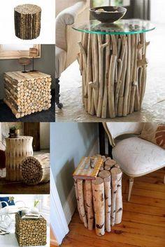 Rustic decor, diy interior, interior design, diy y manualidades, driftwood Diy Home Decor Bedroom, Wood Home Decor, Rustic Decor, Diy Y Manualidades, Driftwood Crafts, Log Furniture, Wood Creations, Diy Interior, Interior Design