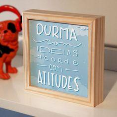 Quadro caixa Durma com ideias - PRINCE ST
