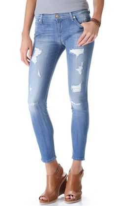 7 For All Mankind The Destroyed Skinny Jeans
