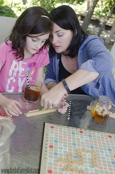 Saturday afternoon Scrabble and @bigelowtea doesn't mean that it isn't a teachable moment as well!  #MeandMyTea [ad]