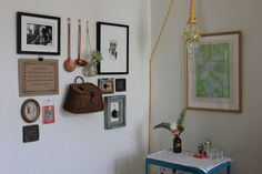 I love the 3 dimensional aspect of this wall.. esp the basket!