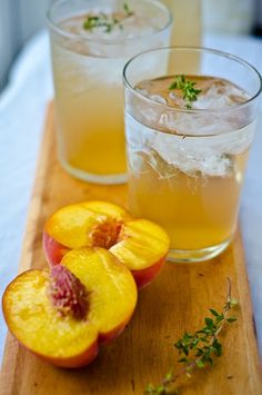 bliss blog - blissful eats with tina jeffers: Peach drinkingvinegar