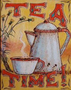 Tea Time Panel by Ambrose B. Begay