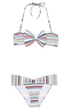Mint Stripe St. Tropez by ETE Swim Now Available on Moda Operandi