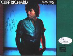 "CLIFF RICHARD Hand Signed ""I'm No Hero"" LP Cover - JSA - UACC RD#289"